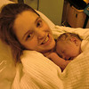 Moments after being born in Emerg of Royal Victoria Hospital in Barrie, ON  - Nov 3, 2010