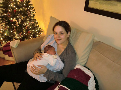 Emily is home with Eli - night of November 30, 2010