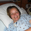 09/10 - 2nd day of labor, and she can force a great smile! (thanks to Mike)
