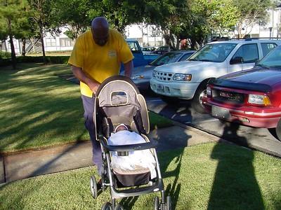 My first stroller ride
