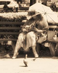 Bench Lady