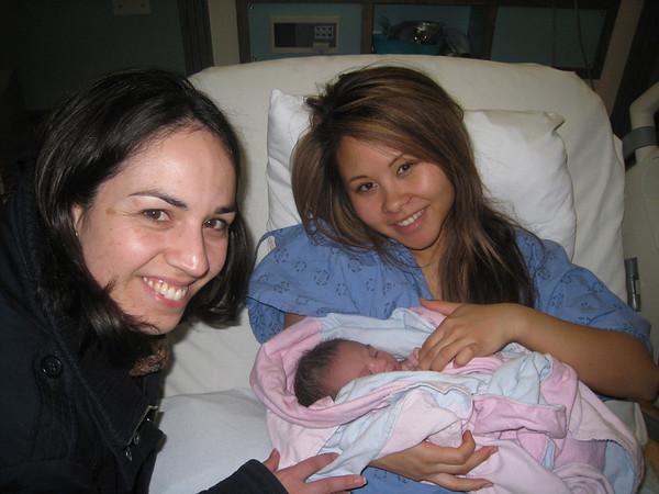 Auntie Nancy with Vanessa and Maya