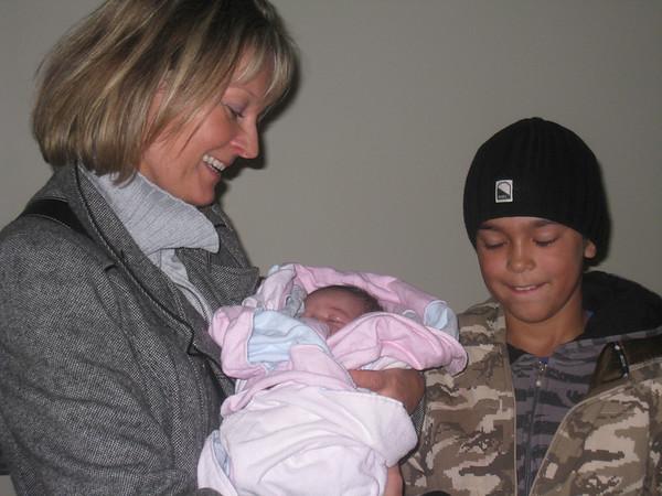 Happy to be holding Maya Rae