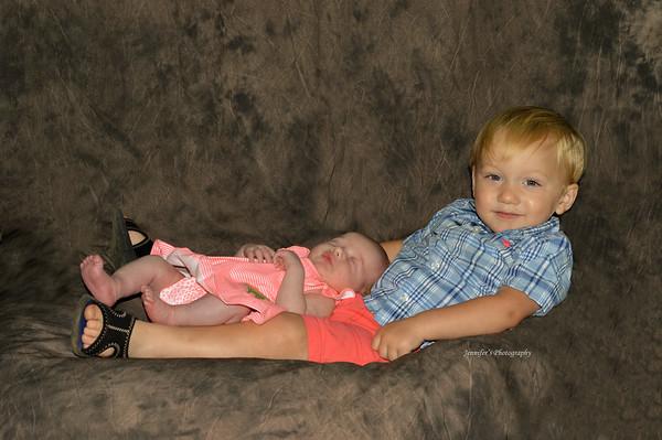 Mia's Newborn pics/Big Brother Jaxtin