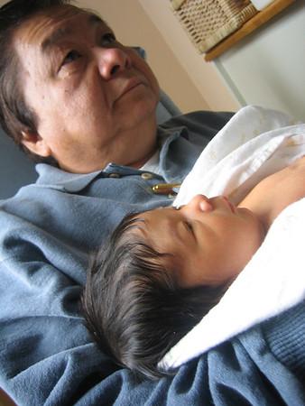 Grandpa and Jaden.
