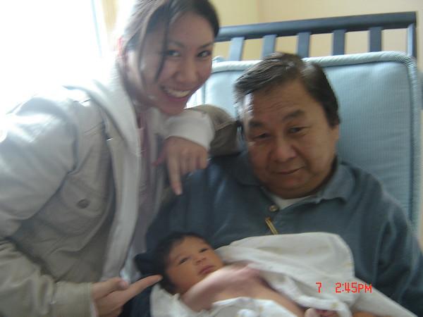 Chantel, Grandpa and Jaden.