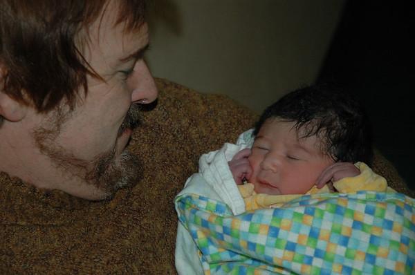 Grandpa Pierre and Jaden.