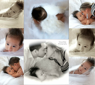 Baby Richardo and Parents Collage with Angel Wings