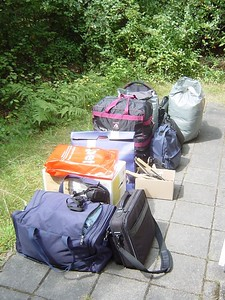 On vacation with Elise. Well ok, we also took some extra stuff ;-)