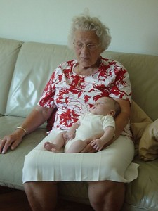 Great grandma, Elise and the Tour de France... Not wanting to wake her, Grandma is forced to watch the Tour for hours!