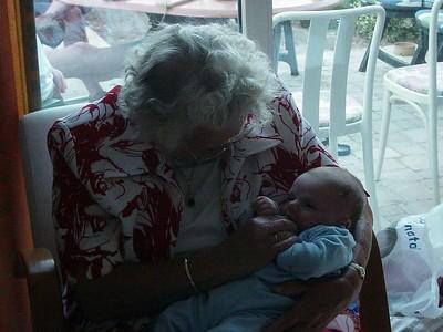 Great grandma in charge of getting Elise to sleep...