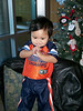 when I asked him to pose, he placed his hands together (like his Ate) and posed...