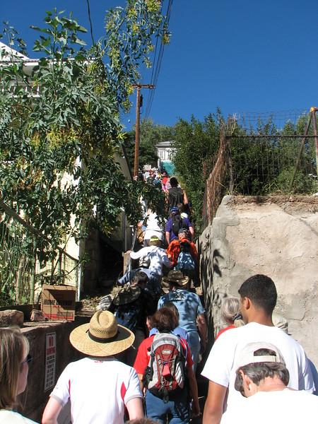 Traffic Jam, Bisbee 1000 Stair Climb