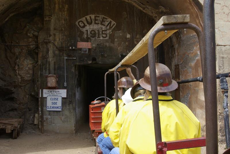 Heading Underground, Queen Mine Tour, Bisbee