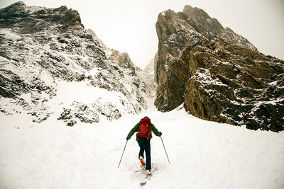 Entering Pinner Couloir