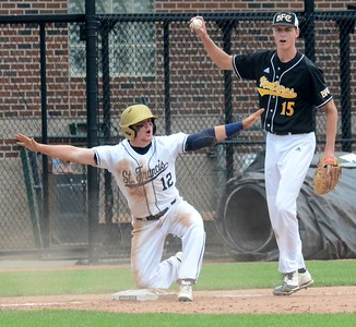 The Madison Heights Bishop Foley baseball team defeated Traverse City St. Francis, 3-0, on Saturday in the Division 3 baseball final from the campus of Michigan State University. (Oakland Press photo by Drew Ellis)