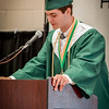Bishop Guertin's Salutatorian, Gabriel Madonna from Tyngsboro gives his speech to the class of 2016. SUN/Caley McGuane