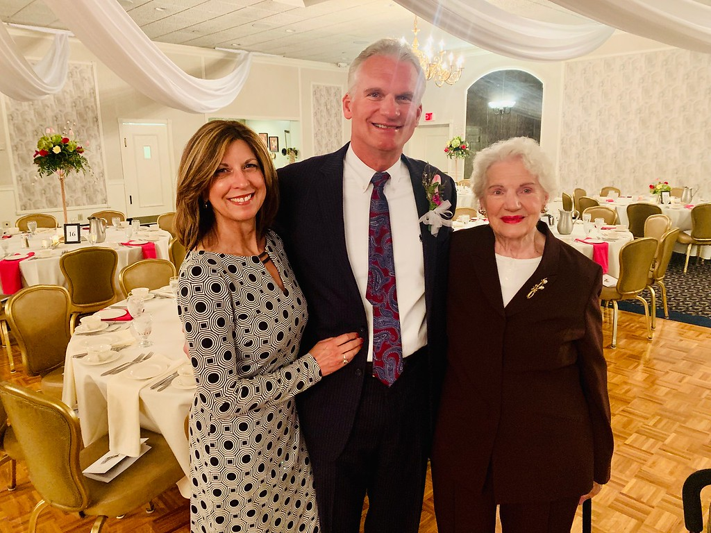 . Honoree Chet Szablak with his lovely wife Linda and mom Delores Szablak, all of Tyngsboro