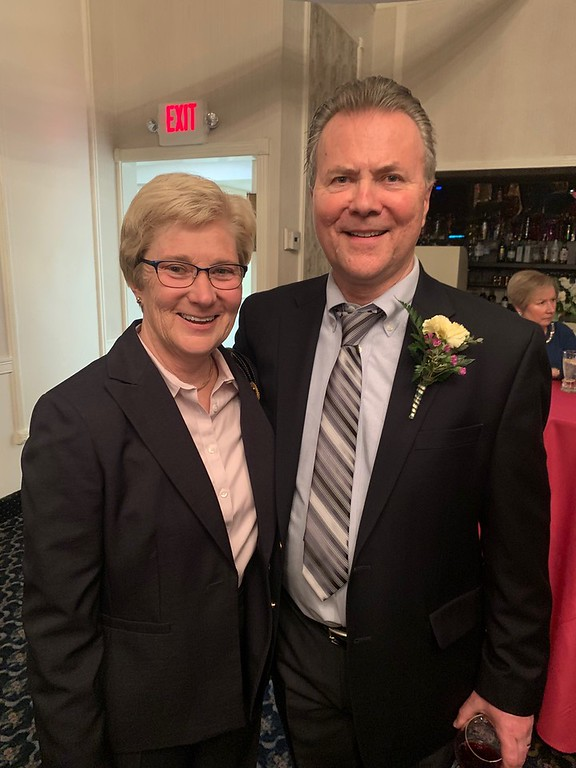 . Honoree Stephen O�Connor with his sister, Annie O�Conner, both of Lowell