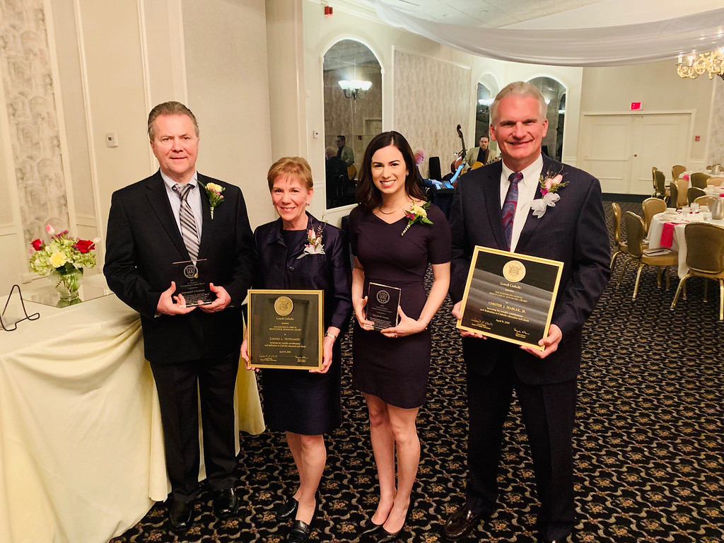 . The fabulous four honorees, from left, Stephen O�Connor of Lowell, Joanne Yestramski of Groton, Taylor Young of South Burlington, Vt., and Chet Szablak of Tyngsboro