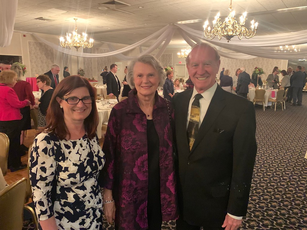 . From left, Lowell Catholic Head of School Maryellen DeMarco of Methuen, and Terry and Jack O�Connor of Lowell