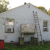 East side of house, just prior to painting.
