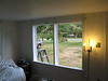 The old window frame, sanded & painted, ready for replacement window installation.