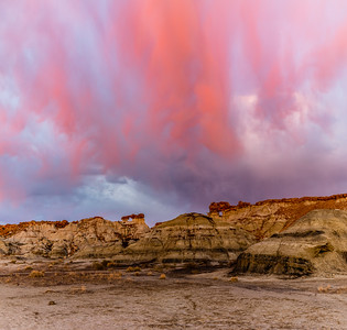 Red Rocks Under a Red Sky