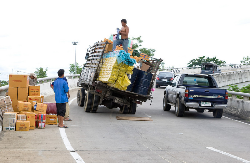 Overloaded Truck on Mahidol Road