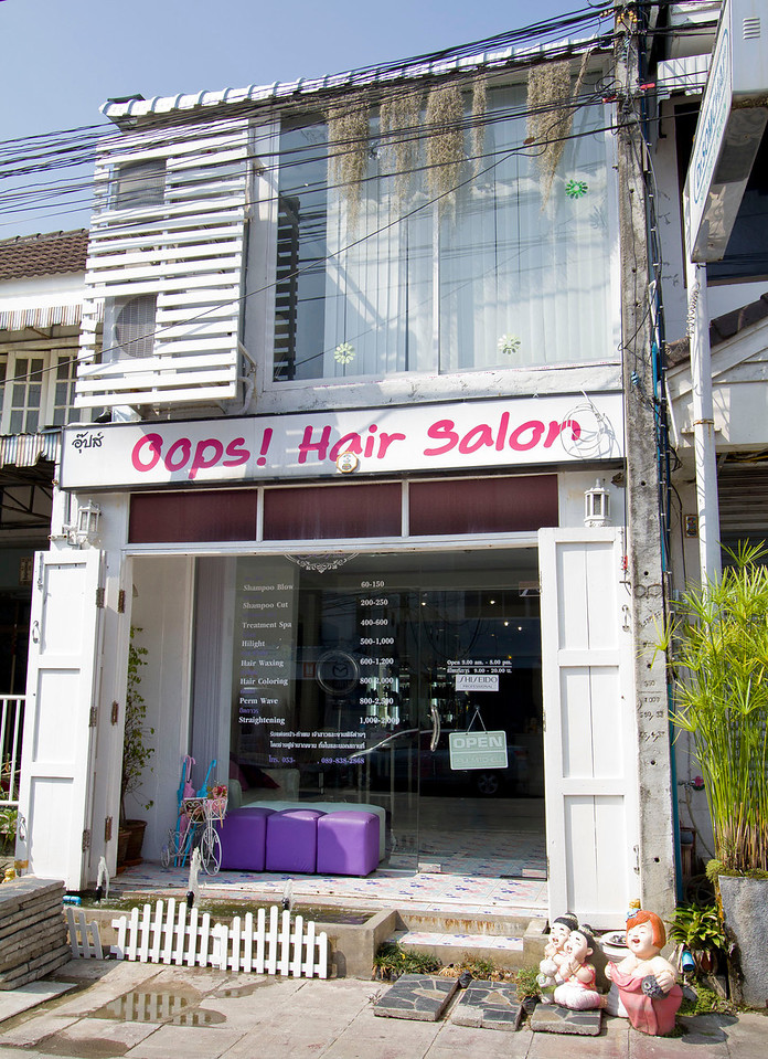 """""""God, my hair's a mess!  Toni & Guy or.....""""<br /> Chiang Mai, Thailand 2013"""