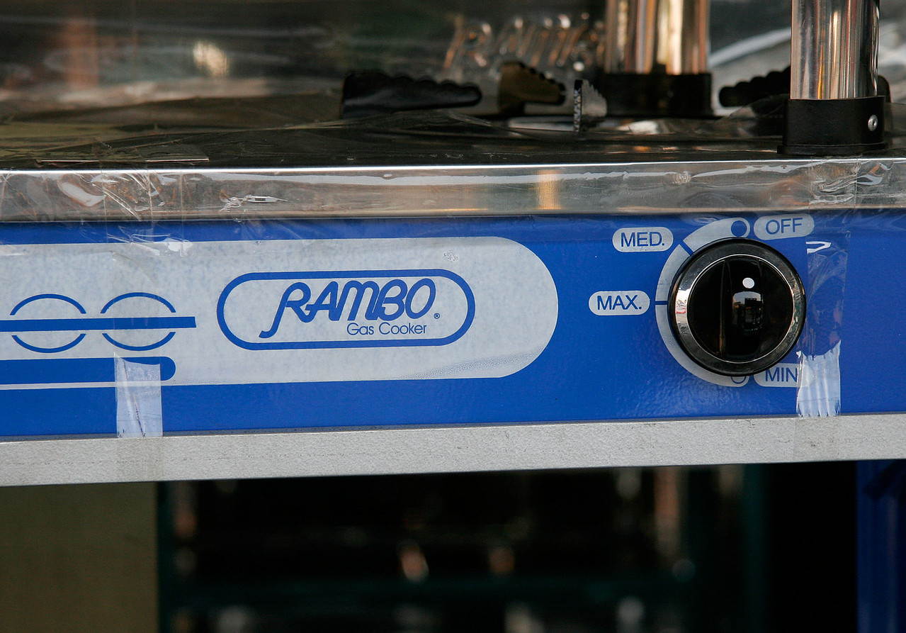 """The hopefully not very aptly named """"Rambo"""" Gas Appliance<br /> Thailand 2006"""