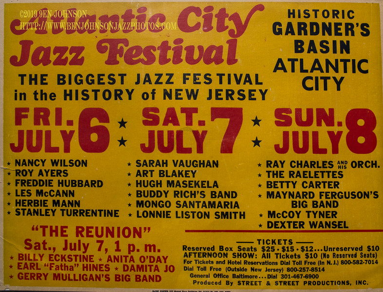 Poster - Atlantic City Jazz Festival 1979