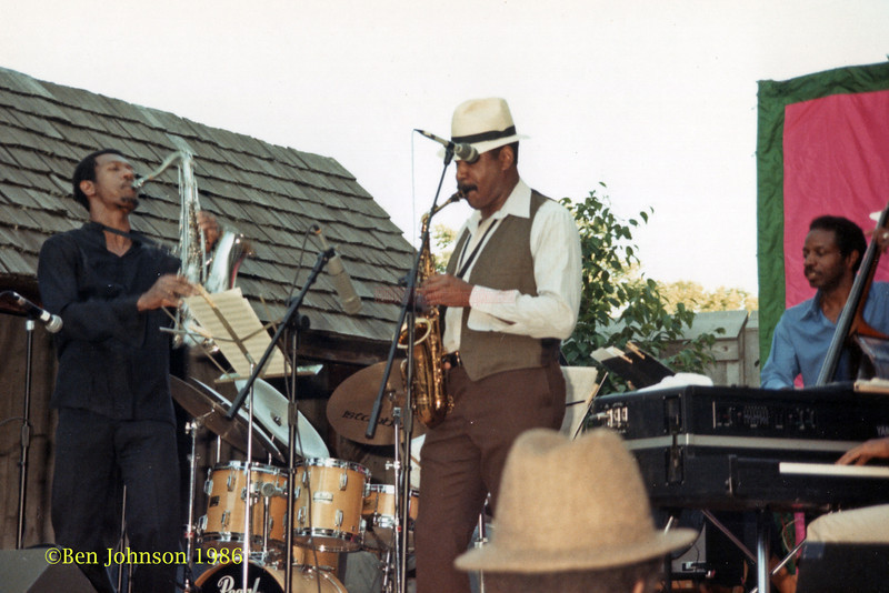 Billy Harper Sonny Fortune and Reggie Workman performing at The Mellon Jazz Festival in Brandywine Pennsylvania in August 1986.