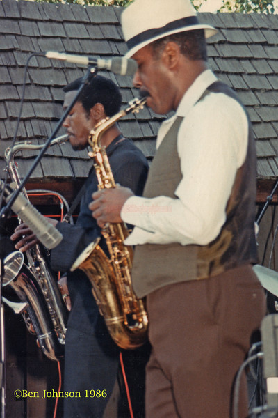 Billy Harper and Sonny Fortune performing at The Mellon Jazz Festival in Brandywine Pennsylvania in August 1986.