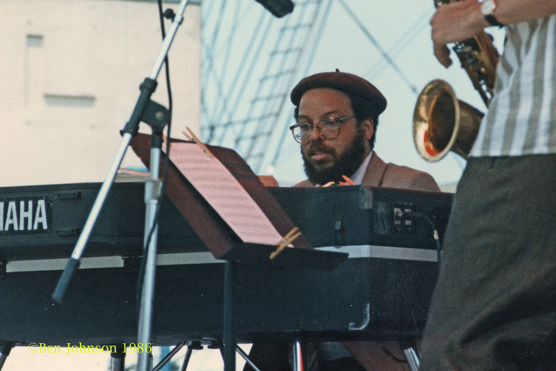 Bill Meek performing at The Mellon Jazz Festival Penns Landing in Philadelphia 1986