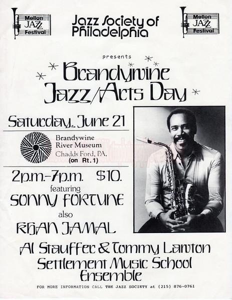 Mellon Jazz Festival in Brandywine Pennsylvania in August 1986.  Mellon Jazz Festival in Brandywine Pennsylvania in August 1986.