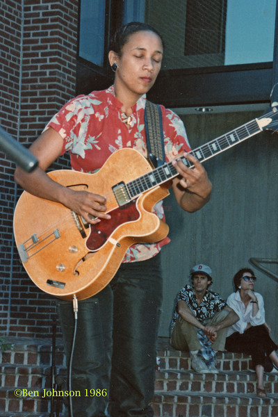 Monnette Suddler performing at The Mellon Jazz Festival in Brandywine Pennsylvania in August 1986.