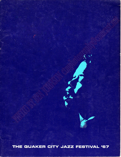 Cover from the 2nd Annual Quaker City Jazz Festival program guide September 30 and October 1,  1967, Philadelphia, PA   The Philadelphia Spectrum, Philadelphia, PA