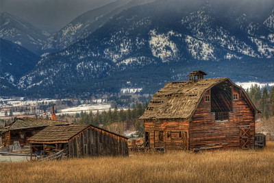 Porter Hill Barn Stevensville, Montana