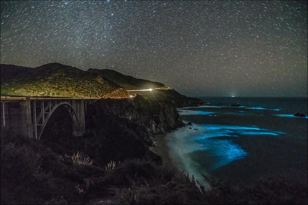 Bixby Bridge Blue Bioluminescence