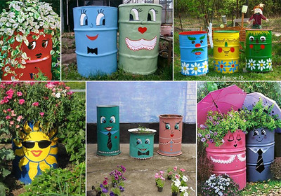 "I think this would be a GREAT idea for a city to have a contest to paint barrels (used ones could probably be donated - recycling!) & use them as trash cans around the city (that are picked up regularly) & some could use them for planters - neighborhood beautification while helping the environment!    The cans could have ""Sponsored by___"" on it & maybe charge something & make it a fundraiser!  I like this concept better than those big painted expensive birds or pigs some cities have done!!!    What do you think???"
