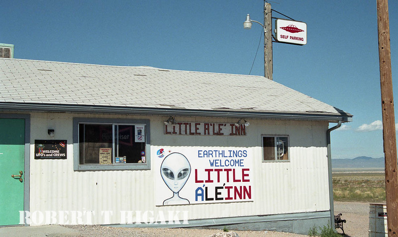 I had to stop for lunch here( no McDonalds). You can guess it, I had an Alien burger. There a lot of bad photographs of UFO's inside- good for a few laughs.