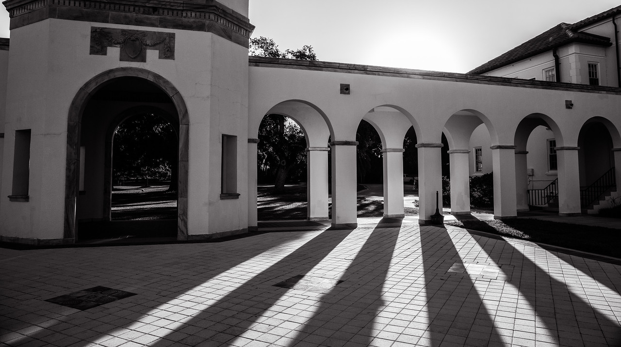 Ringling garden and statues
