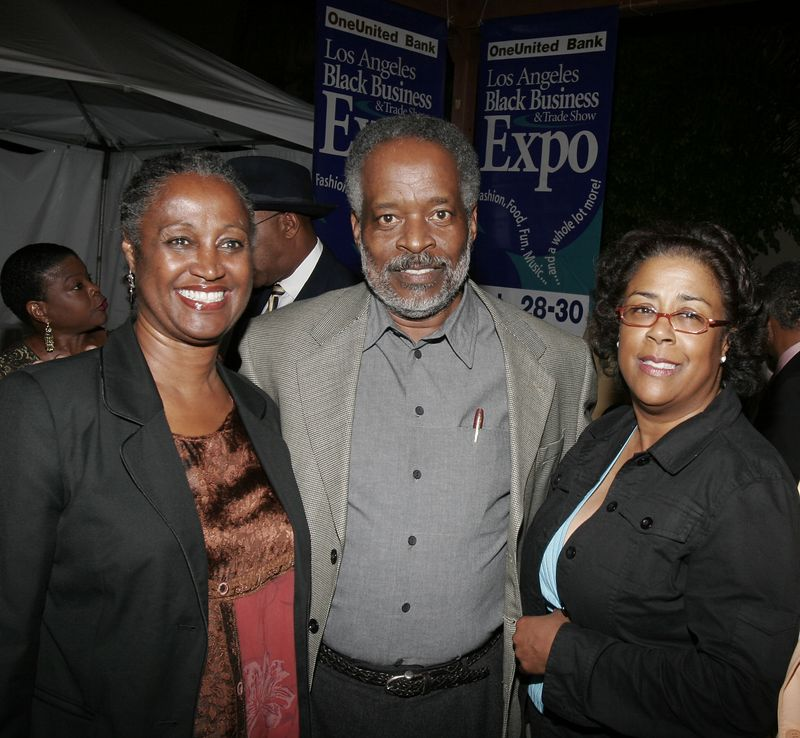 Expo President Harold Hambrick is flanked by Brenda Shockley,who runs Community Build and the lovely Gardens where we held our Reception and Councilwoman Jan Perry who along with Councilman Bernard Parks made it all happen.