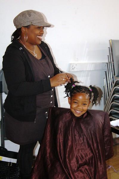 Lil miss K'La getting ready for the shoot.<br /> <br /> Photo by Isidra Person-Lynn Photo © 2008 Isidra Person-Lynn
