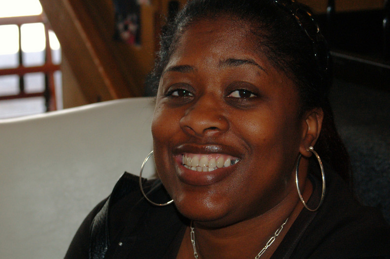 Aishah Washington, hair stylist.<br /> <br /> Photo by Isidra Person-Lynn Photo © 2008 Isidra Person-Lynn