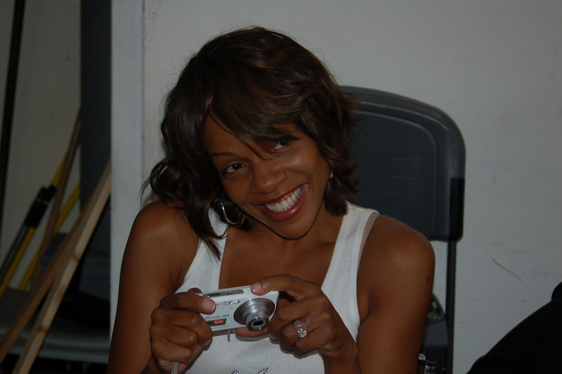 """This is a """"before"""" photo of Wendy Raquel Robinson, our celebrity spokesperson. She had just arrived.  Let's see how well Aishah (hair) and Mecca (makeup) do their thing.<br /> <br /> Photo by Isidra Person-Lynn Photo © 2008 Isidra Person-Lynn"""