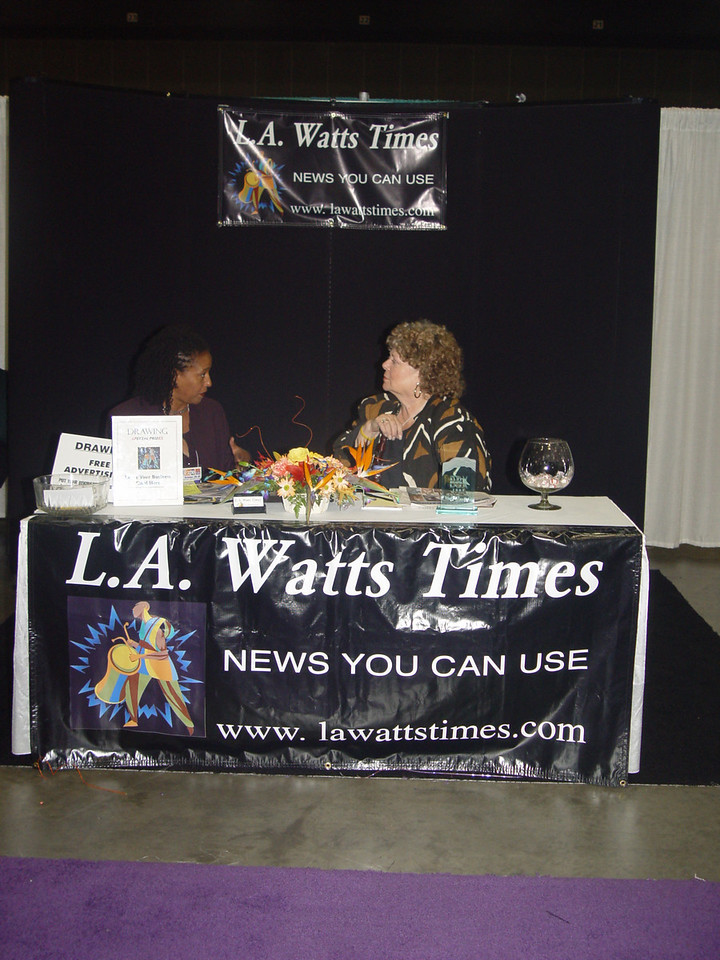 Media sponsor LA Watts Times.  Photo by Lauren Bradley