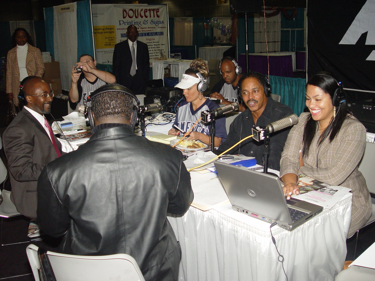 Premier Sponsor Black Enterprise Magazine was a guest on the live bropadcast by KJLH's Cliff Winston and the Home Team. <br /> <br /> Photo by Lauren Bradley