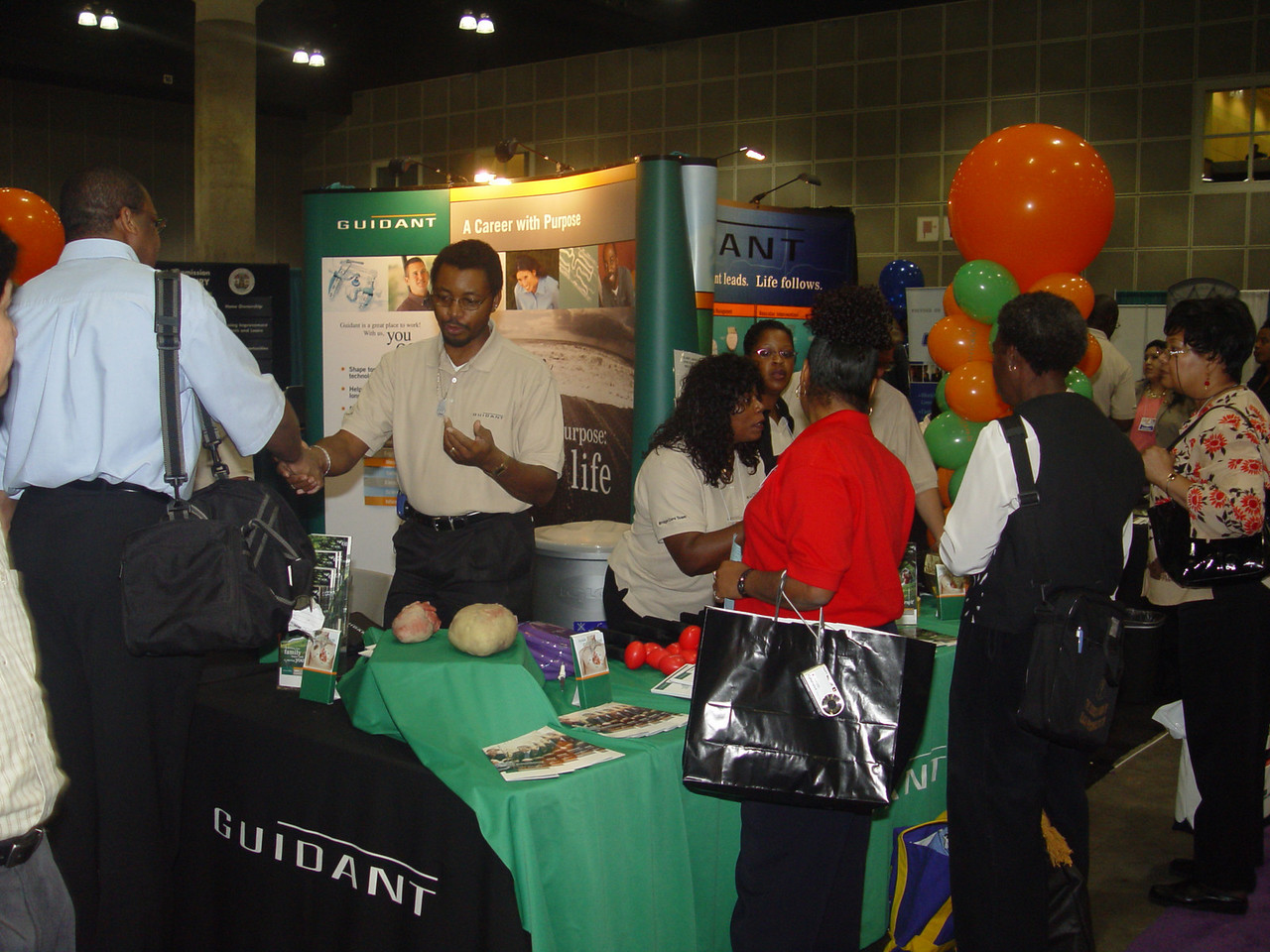 First time sponsor Guidant educated the public about heart healthcare.<br /> Photo by Lauren Bradley